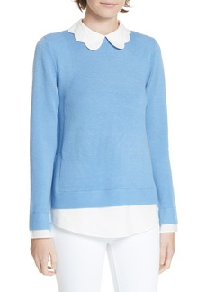 Ted Baker London Bronwen Scalloped Collar Sweater