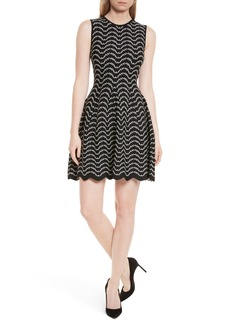 Ted Baker London Bryena Jacquard Fit & Flare Dress