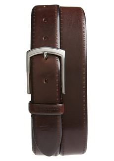 Ted Baker London Burnished Brogue Leather Belt
