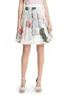 Ted Baker London Burnout Chatsworth Pleated Skirt