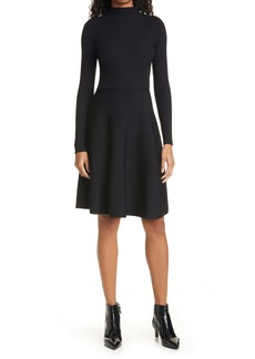 Ted Baker London Button Detail Long Sleeve Skater Dress