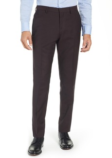 Ted Baker London Button Front Tall Twill Slim Straight Trousers