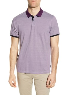 Ted Baker London Caffine Slim Fit Stripe Contrast Collar Polo
