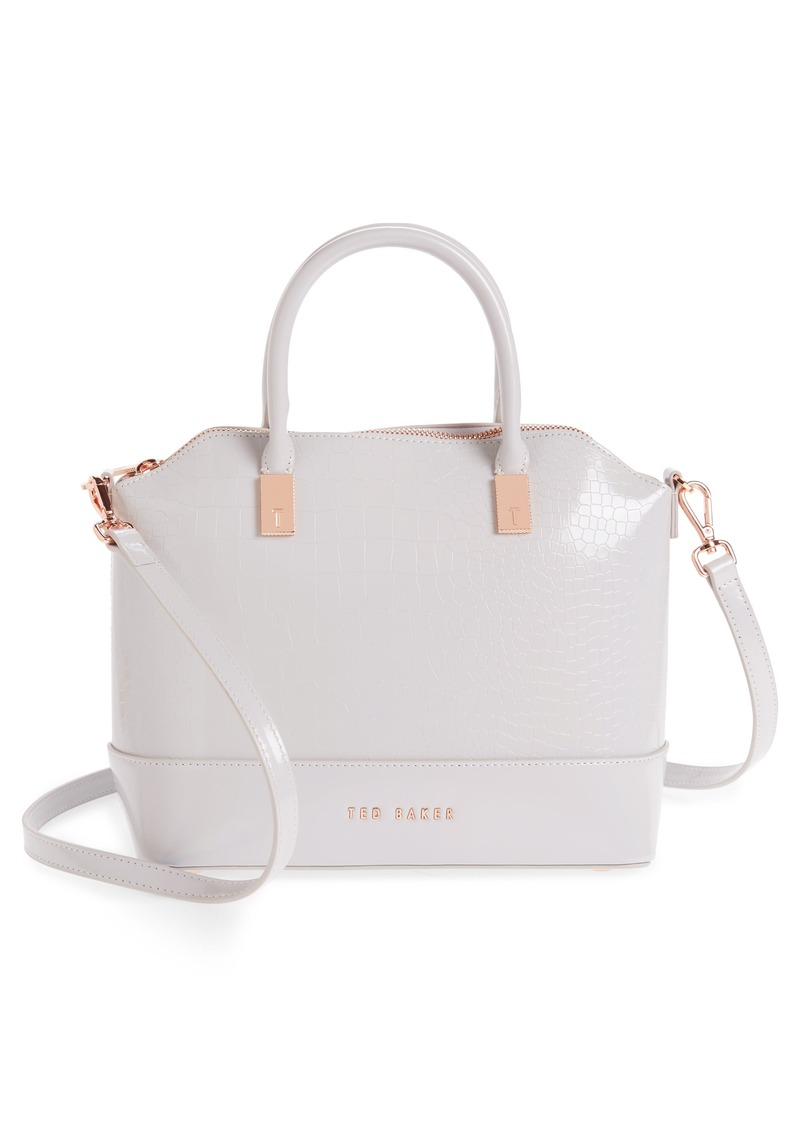 b27d07fc21fe Ted Baker Ted Baker London Camilee Croc Embossed Leather Top Handle ...