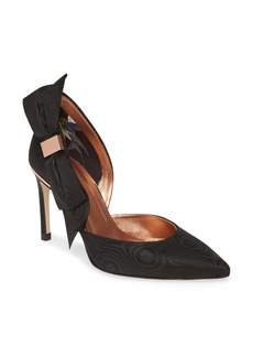 Ted Baker London Camoir Bow Pointed Toe Pump (Women)
