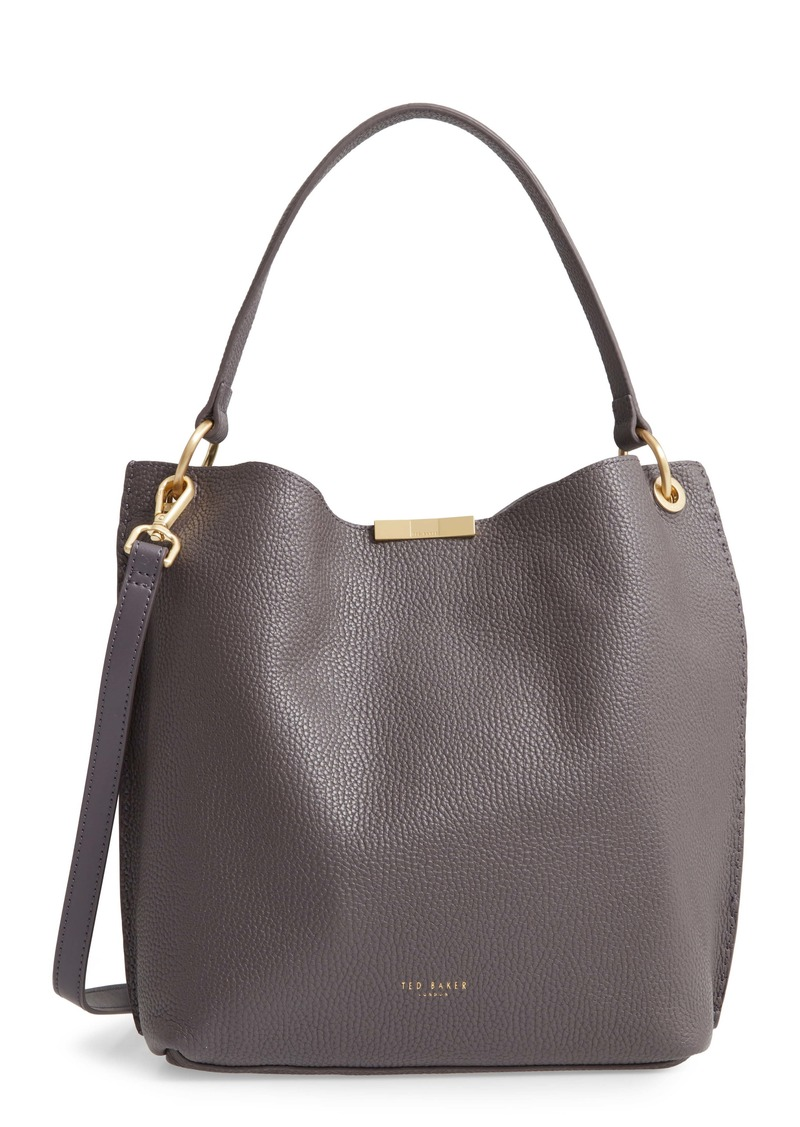 Ted Baker London Candiee Faceted Bar Leather Hobo