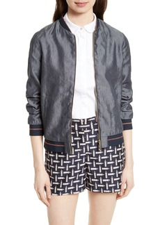 Ted Baker London Cannock Linen Blend Bomber Jacket