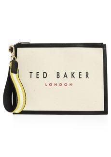 Ted Baker London Canvas Wristlet