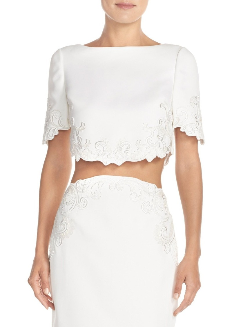 bcc5458915b7b9 Ted baker ted baker london capris embroidered crop top casual shirts jpg  800x1127 Ted baker cropped