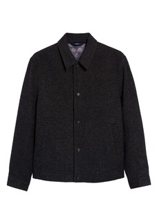 Ted Baker London Carabin Check Wool & Cotton Blend Jacket