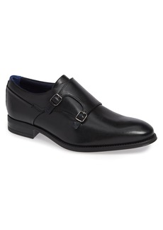 Ted Baker London Cathon Double Buckle Monk Shoe (Men)