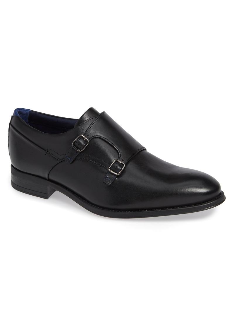 Ted Baker London Cathon Double Buckle Monk Shoe (Men)