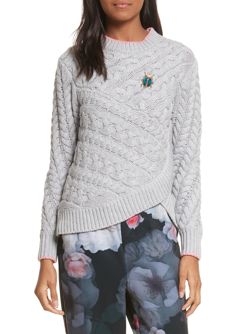 1b662354c6f7a2 On Sale today! Ted Baker Ted Baker London Charo Cable Knit Sweater