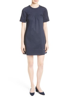 Ted Baker London Charr Button Shoulder A-Line Dress
