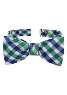 Ted Baker London Check Cotton & Silk Bow Tie