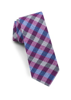 Ted Baker London Check Silk & Wool Tie