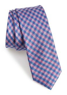 Ted Baker London Check Silk Skinny Tie