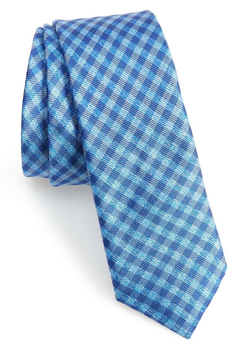 Ted Baker London Check Silk Skinny Tie
