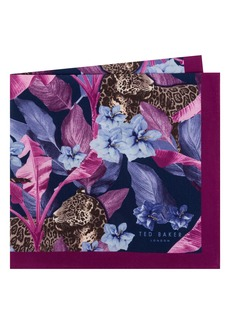Ted Baker London Cheetah Silk Pocket Square