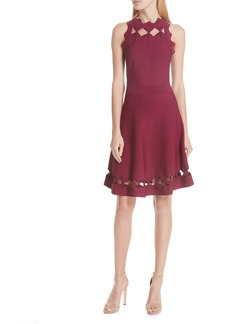 Ted Baker London Cherina Bow Detail Fit & Flare Knit Dress