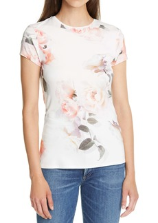 Ted Baker London Chesnot Bouquet Print Fitted T-Shirt