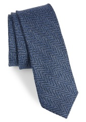 Ted Baker London Chevron Silk & Linen Tie