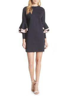 Ted Baker London Chloae Frill Sleeve Sweatshirt Dress