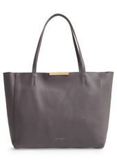 Ted Baker London Clarkia Faceted Bar Leather Shopper