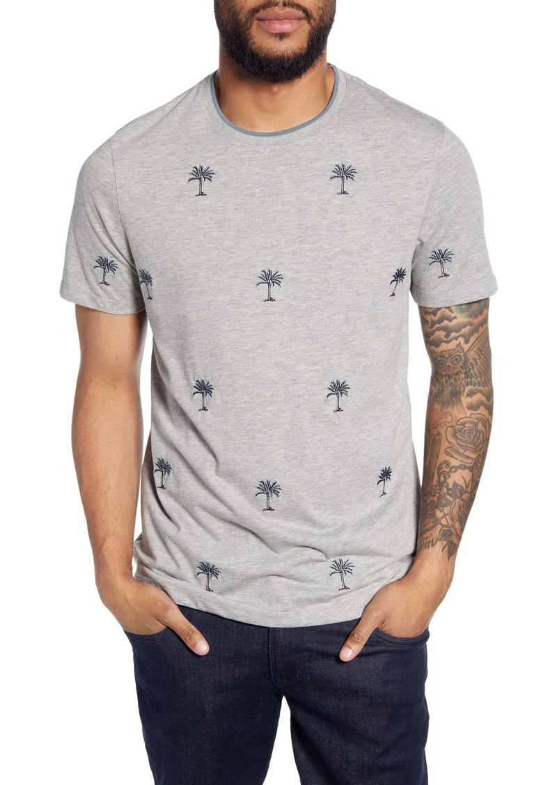 Ted Baker London Coconut Slim Fit Embroidered Palm Tree T-Shirt