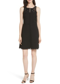 Ted Baker London Codi Embroidered Scallop A-Line Dress