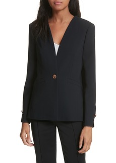Ted Baker London Collarless Stretch Wool Jacket