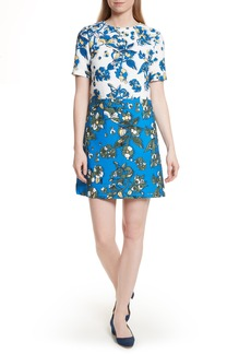 Ted Baker London Colorblock Floral Shift Dress