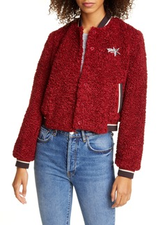 Ted Baker London Colour by Numbers Bobbl Teddy Bomber Jacket