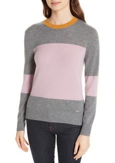 Ted Baker London Colour by Numbers Bryonny Colorblock Cashmere Sweater