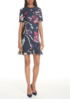 Ted Baker London Colour by Numbers Carleen Frill Dress
