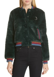 Ted Baker London Colour by Numbers Faux Fur Bomber Jacket