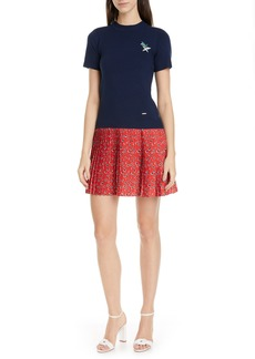 Ted Baker London Colour by Numbers Gememma Mix Media Dress