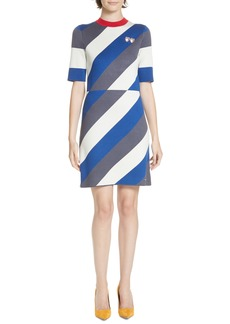 Ted Baker London Colour by Numbers Jaddee Diagonal Stripe Dress