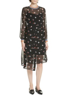 Ted Baker London Colour by Numbers Luela Floral Midi Dress