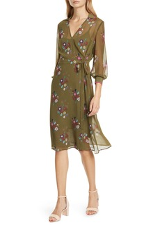 Ted Baker London Colour by Numbers Mammil Floral Long Sleeve Wrap Dress