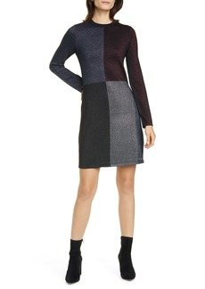 Ted Baker London Colour by Numbers Redlo Metallic Long Sleeve Sweater Dress