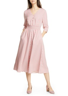 Ted Baker London Colour by Numbers Stripe Midi Shirtdress