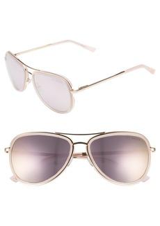 Ted Baker London Combination 57mm Aviator Sunglasses