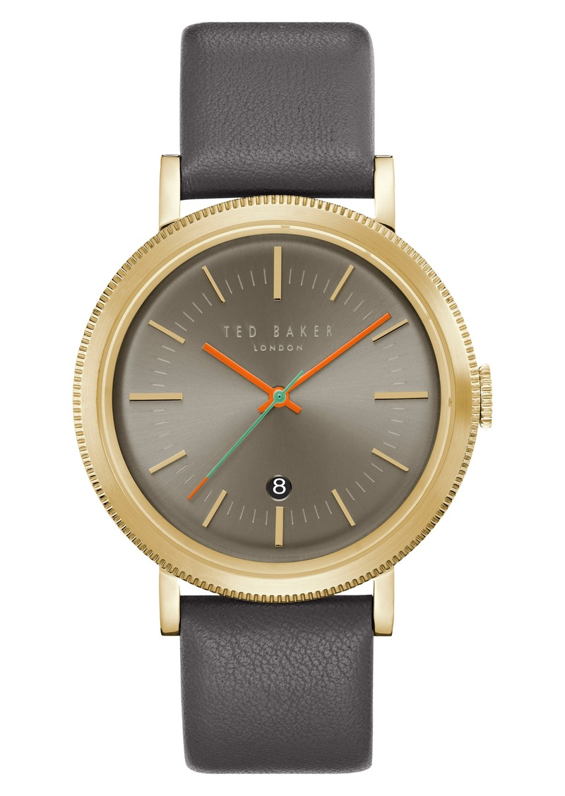 7f8b98ac28138 Ted Baker Ted Baker London Connor Leather Strap Watch