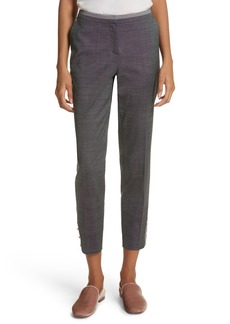 Ted Baker London Contrast Trim Slim Leg Trousers