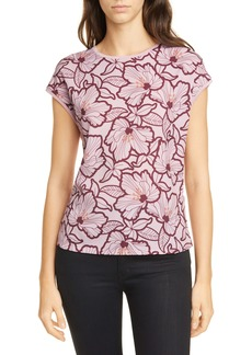 Ted Baker London Cordine Amber Floral Woven Front Top