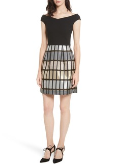 Ted Baker London Cotton Reels Embroidered Dress