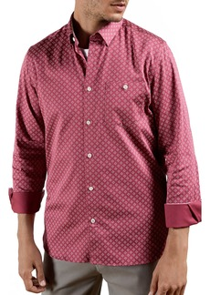Ted Baker London Croissy Geometric Print Button-Up Shirt