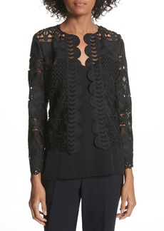 Ted Baker London Crop Lace Jacket