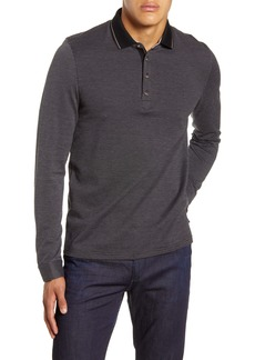 Ted Baker London Cuptea Slim Fit Long Sleeve Polo